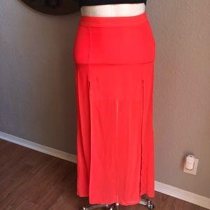 H&M Divided Red Orange Skirt